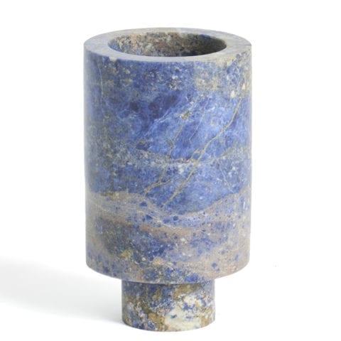 Vase Inside Out Blu Sodalite