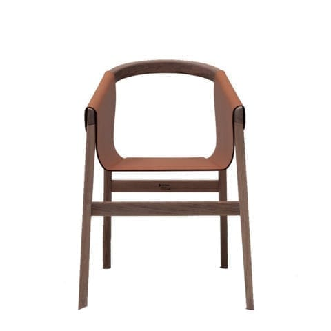 The Invisible Collection Dartagnan Chair David Haymann Walnut Noyer Chêne Oak Leather Cuir