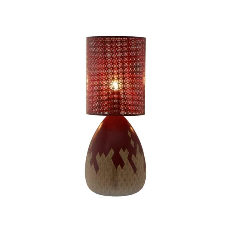 The Invisible Collection Carved Table Lamp Nada Debs