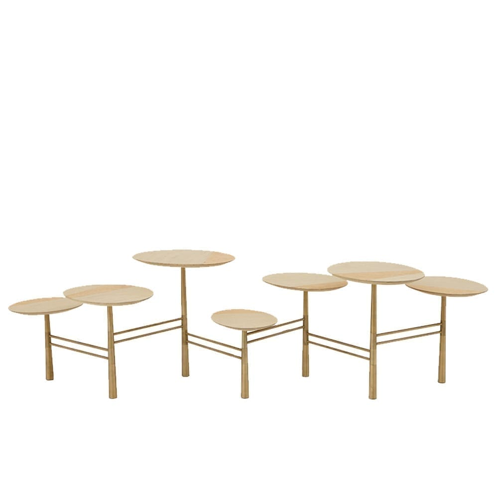 The Invisible Collection Pebble Coffee Table Gold Leaf Nada Debs