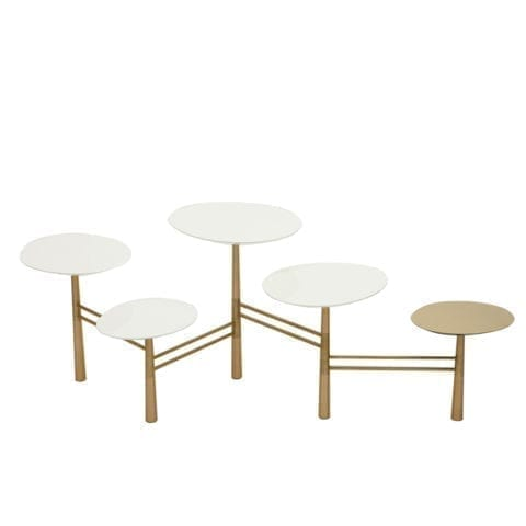 The Invisible Collection Pebble Coffee Table White Nada Debs