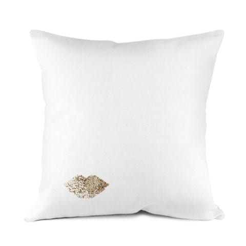 Gold Lips Pillowcase