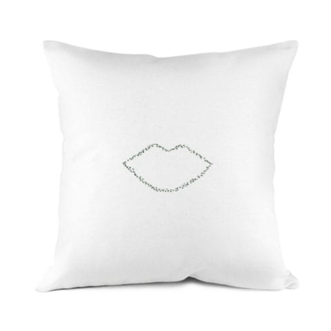 Green Lips Pillowcase