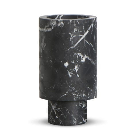 Inside Out Nero Marquina Vase