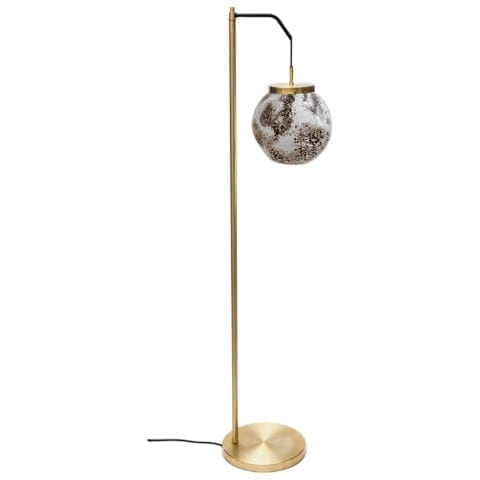 Floor Lamp King Sun Murano Black And White