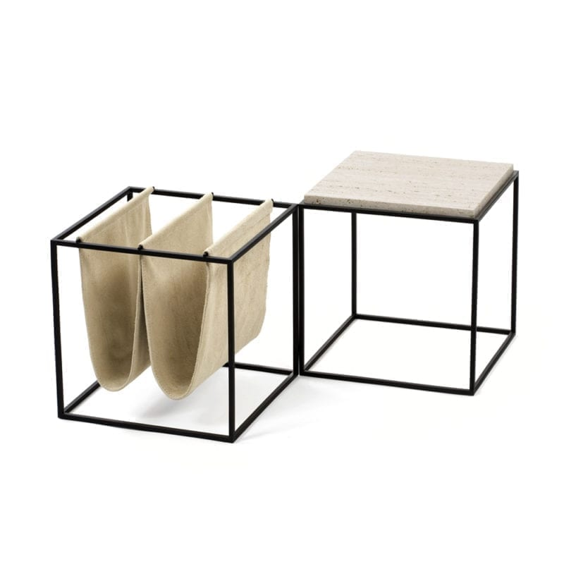 The_Invisible_Collection_Etel_Domino_Side_Table_and_Domino_Magazine_Holder