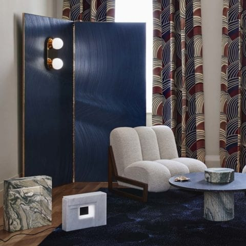 Folding Screen & Wall Lamp