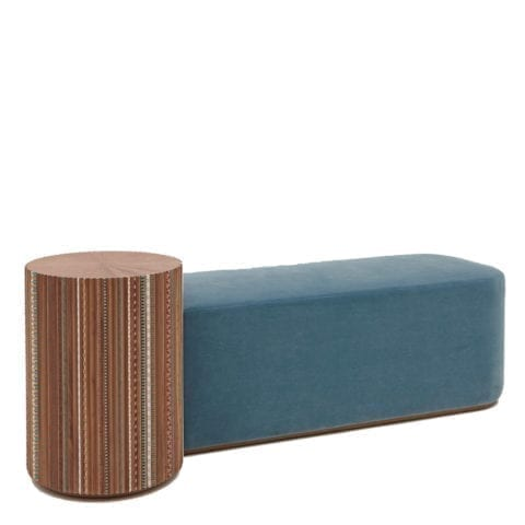 The Invisible Collection Funquetery Pleated Bench by Nada Debs