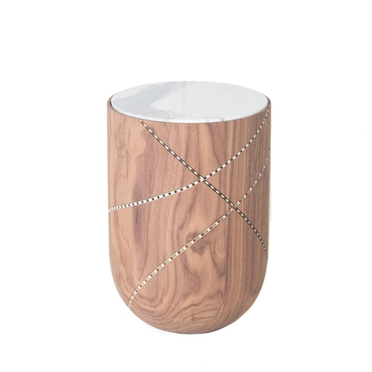 The Invisible Collection Funquetery Swirl Side Table Nada Debs