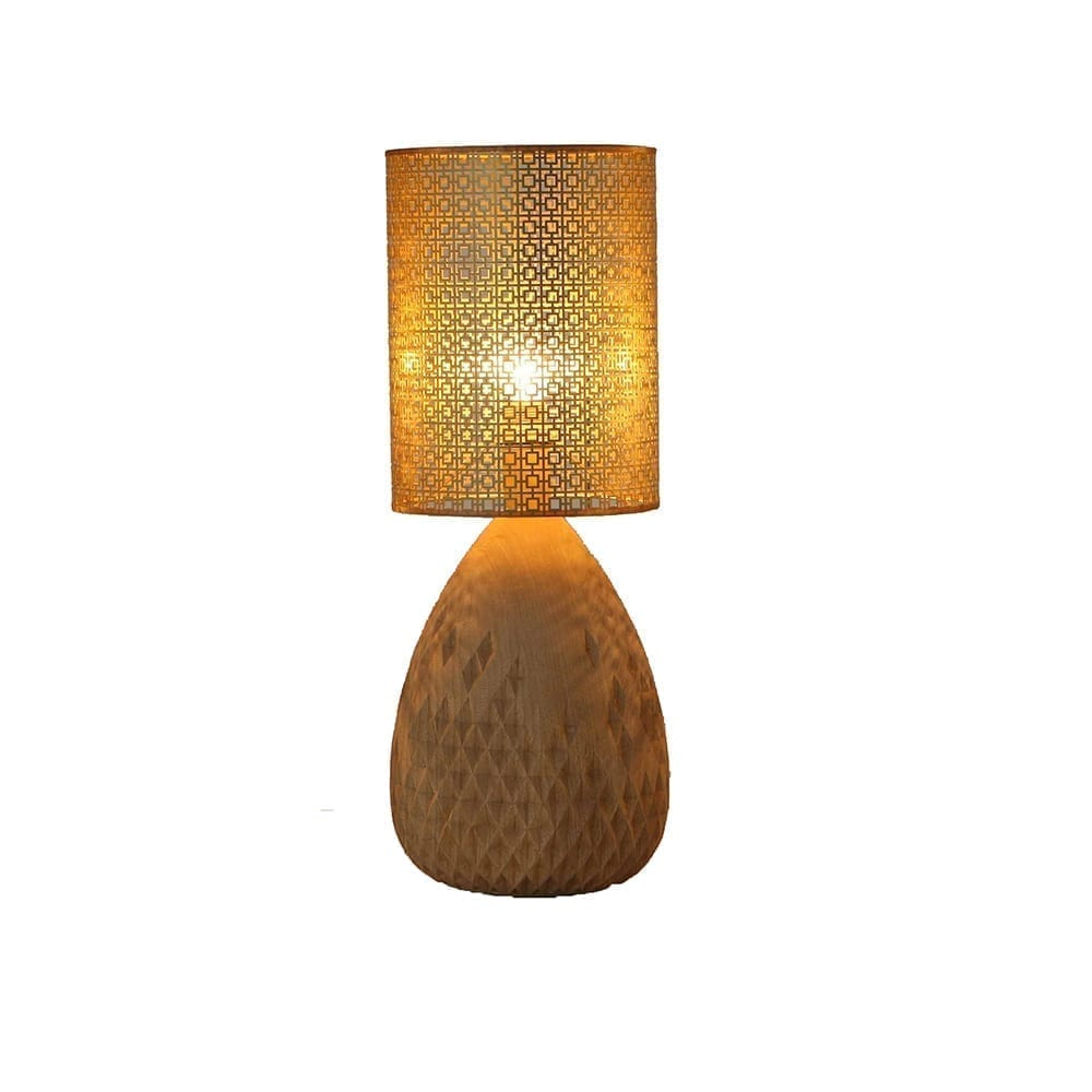 The Invisible Collection Brass Carved Table Lamp Nada Debs