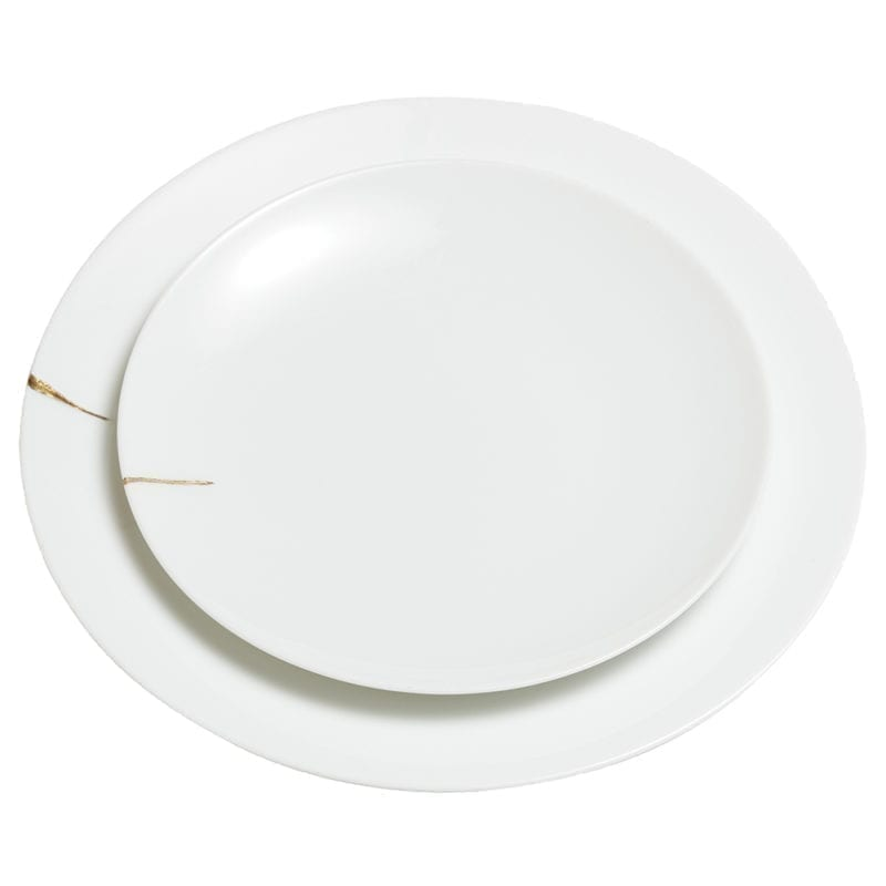 The Invisible Collection Creations Dragonfly Assiette Kintsugi Charentais XL