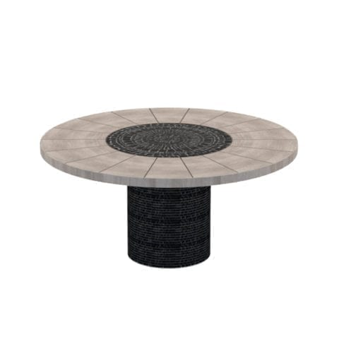 Piatro Circular Mosaic Dining Table