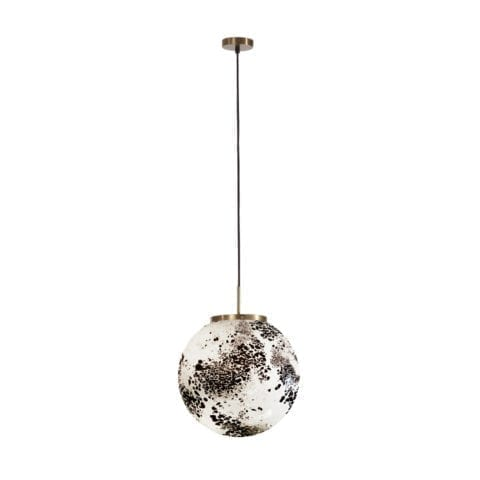 Ceiling Lamp King Sun Murano Black And White
