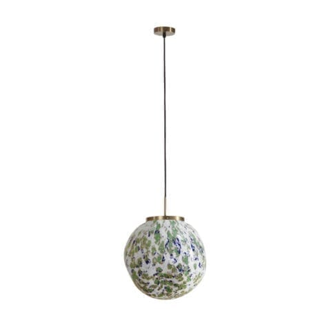 Suspension King Sun Murano Vert Et Bleu