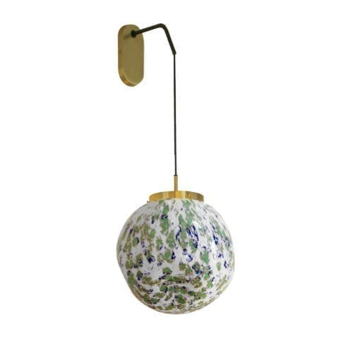 Wall Lamp King Sun Murano Green And Blue