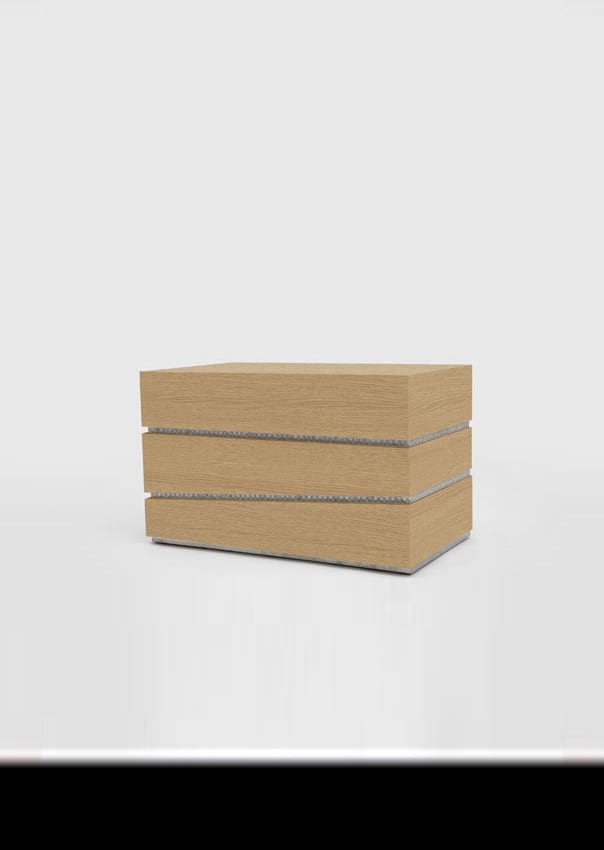 The Invisible Collection Draw The Line Side Table by Nada Debs