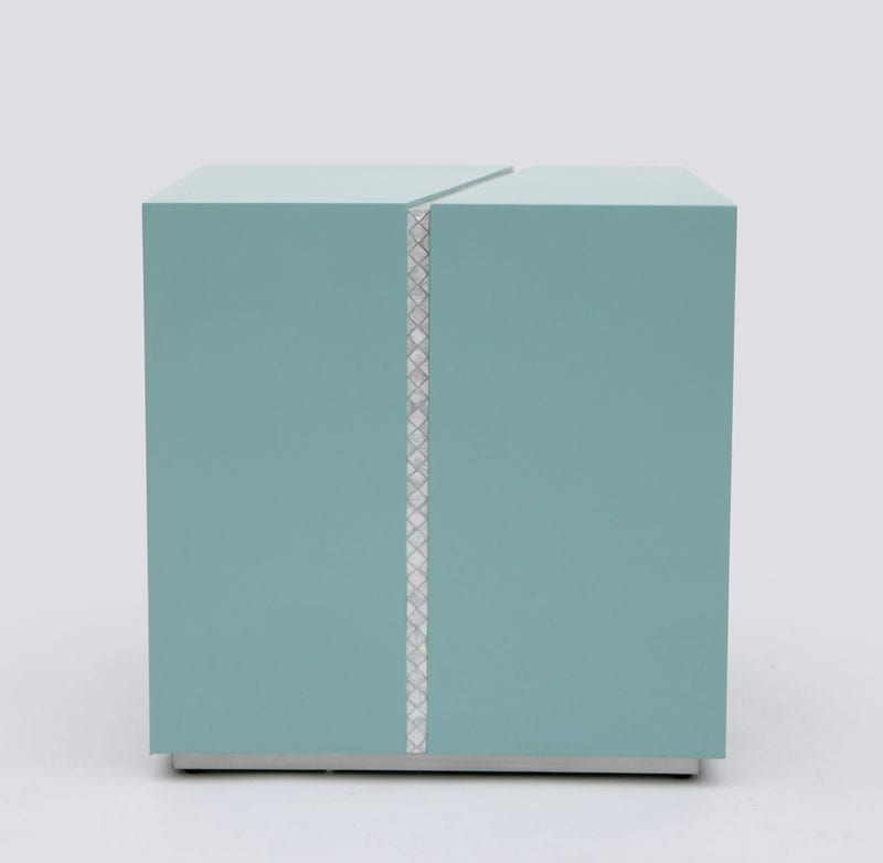 The Invisible Collection Draw The Line Bedside Table by Nada Debs