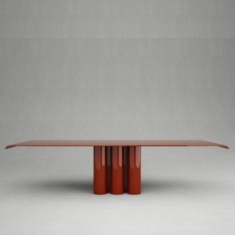 Giorgio 2 Dining Table Red Lacquer