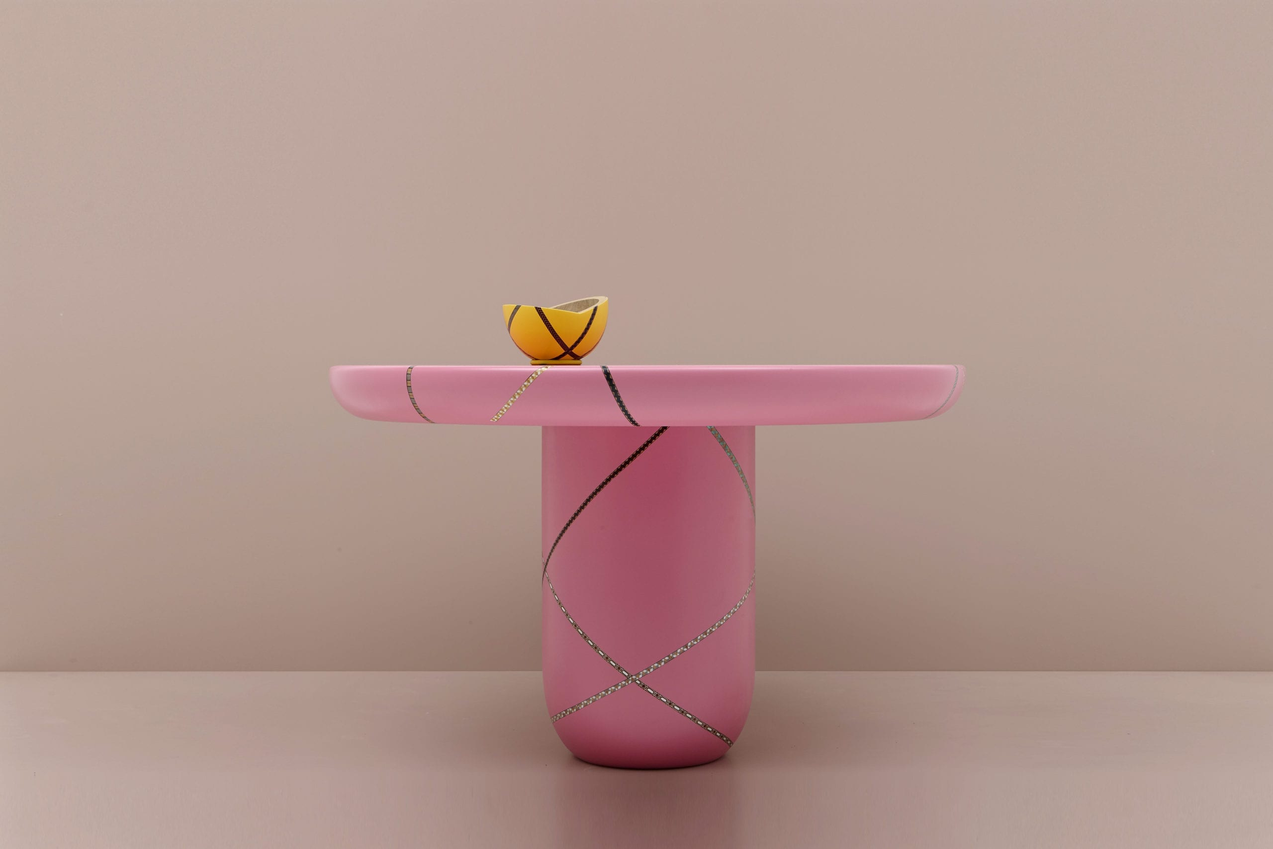 Marquetery Mania Center Dining Table by Nada Debs