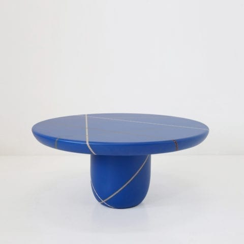 Marquetry Mania Low Table Blue