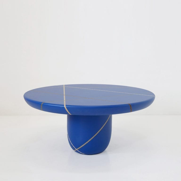 The Invisible Collection Marquetry Mania Low Table by Nada Debs