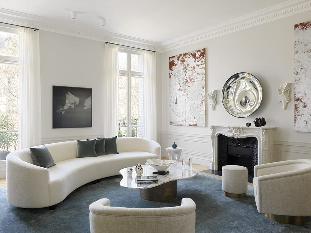 White Shadow Coffee Table by Damien Langlois-Meurinne, DLM