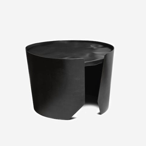 Black Drum Side Table