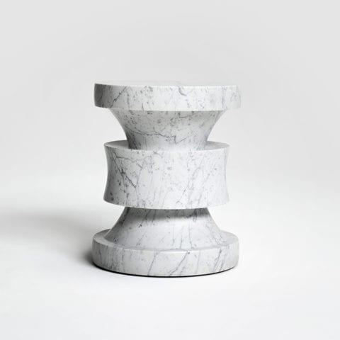 Barth Stool Les Intemporels White Marble