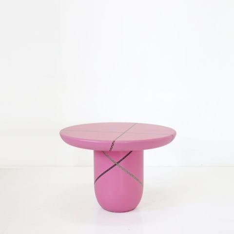 Marquetry Mania Low Table Pink