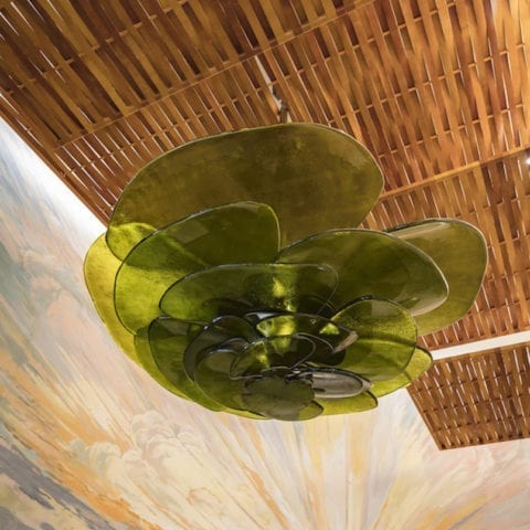 The Invisible Collection Lillypad chandelier Laura Gonzalez