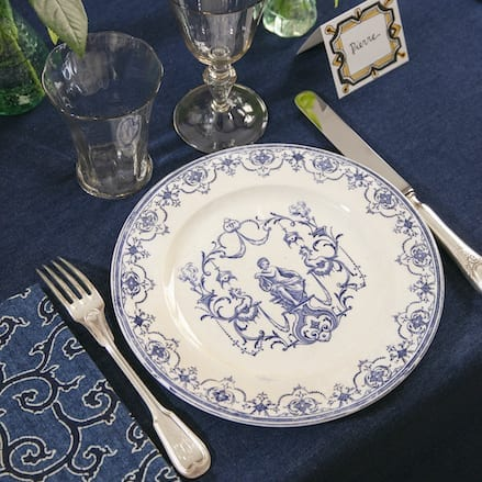 Moustiers Dinner Set for 12 – SOLD