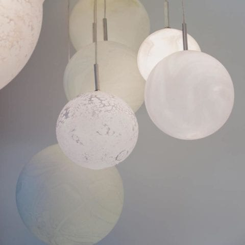 27 Planets Chandelier