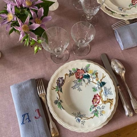 English Rose Dinner Set for 10