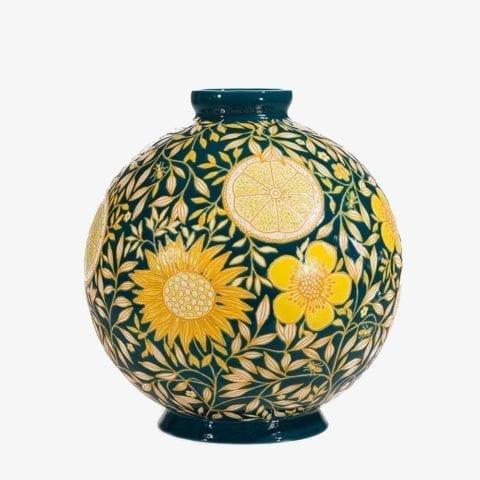 Vase Boule Flo Lemon Insect