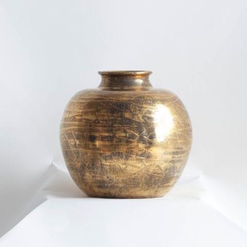 Vase Boule Or