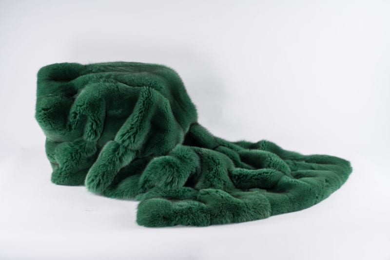 The Invisible Collection Norki Emerald Green Bed Cover