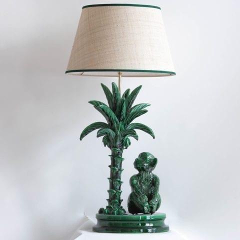 Singe au Palmier Lamp