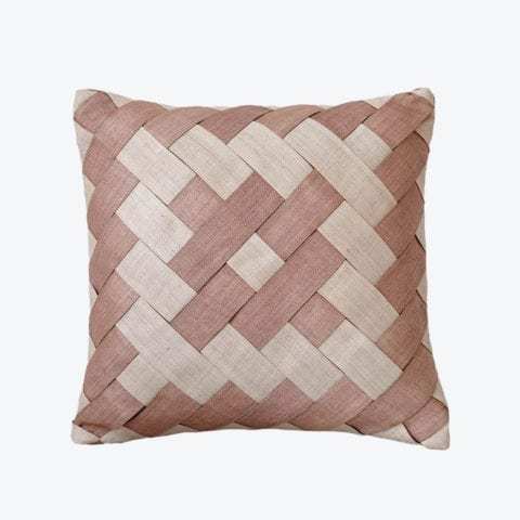 Cross Panel Weave Cushion Cover
