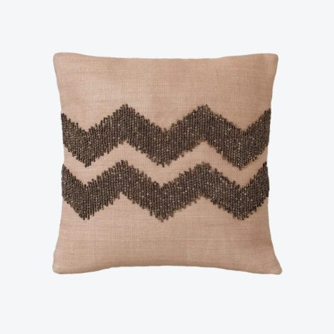 Zig Zag Beaded Cushion Cover
