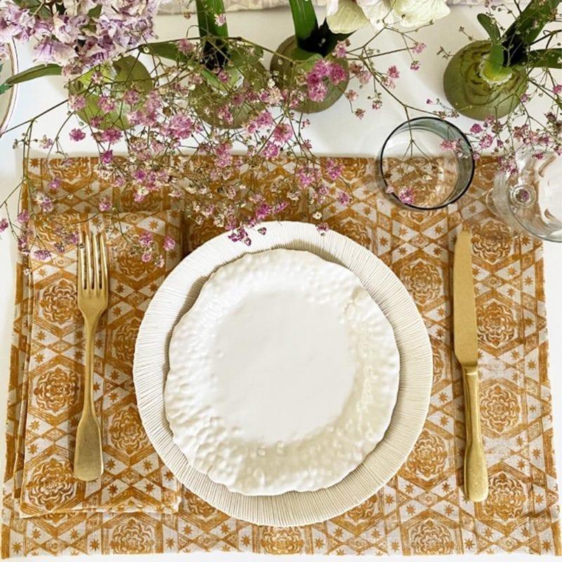 The Invisible Collection Etoiles Gold Napkin Jennifer Shorto