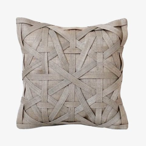 Diamond Large Weave Light Grey Cushion Cover