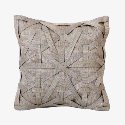 Diamond Large Weave Gris Clair Housse de Coussin