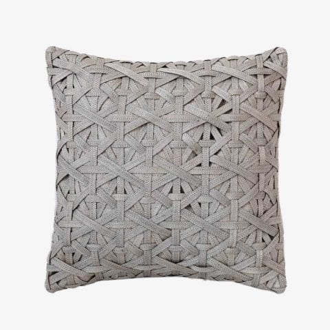 Diamond Small Weave Light Grey Cushion Cover