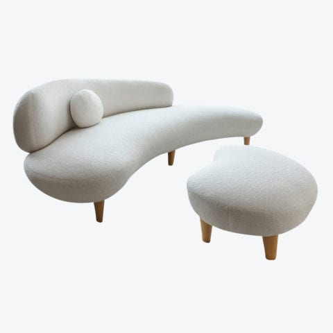 The Curve Sofa and Footstool