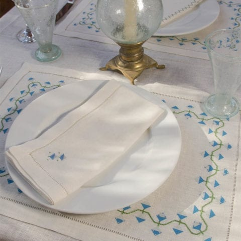 Serviette De Table Giza Flower