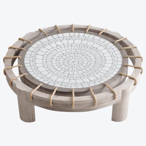 Table Basse Piatro Mosaïque & Corde