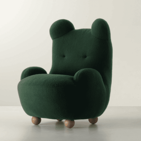 Fauteuil Maman Ours Vert